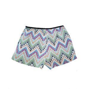 LUSH Chevron Tribal Aztec Print Colorful Shorts